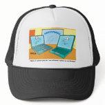 Talking Laptop Computer Cartoon Trucker Hat