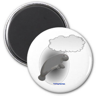 Talking Manatee 2 Inch Round Magnet