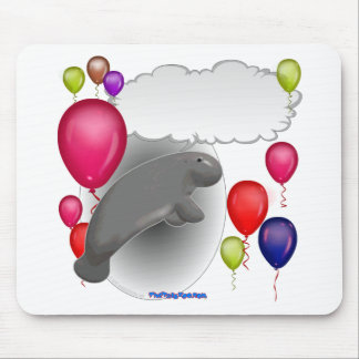 Talking Manatee Party Mouse Pad