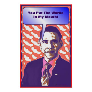 """""""Talking Obama""""  Pop Art Political Satire Poster"""