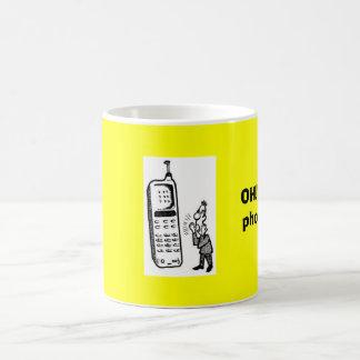 Talking_on_Cell_Phone_1, OH!  I got a phone call! Coffee Mug