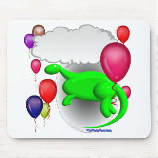 talking party dinosaur mouse pad