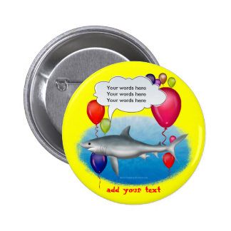 Talking Party Shark Button