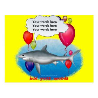 Talking Party Shark Postcard
