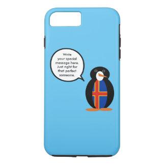 Talking Penguin Aland Islands Flag iPhone 8 Plus/7 Plus Case