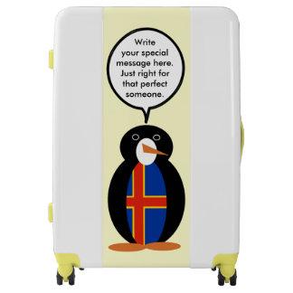 Talking Penguin Aland Islands Flag Luggage