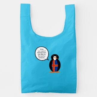 Talking Penguin Aland Islands Flag Reusable Bag