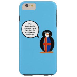 Talking Penguin Aland Islands Flag Tough iPhone 6 Plus Case