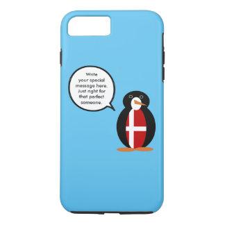 Talking Penguin Danish Flag iPhone 8 Plus/7 Plus Case
