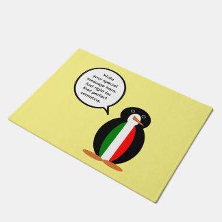 Talking Penguin Italian Flag Doormat