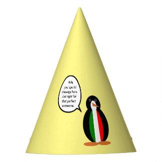 Talking Penguin Italian Flag Party Hat