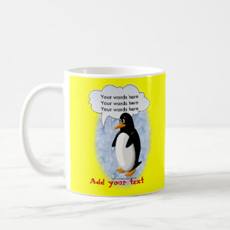 Talking Penguin Classic White Coffee Mug