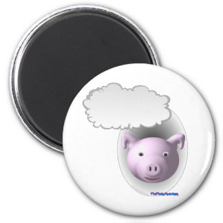 Talking Pig Face 2 Inch Round Magnet