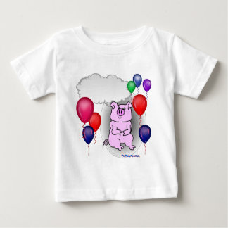 Talking Pink Party Pig Baby T-Shirt