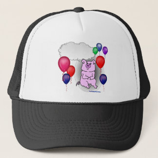 Talking Pink Party Pig Trucker Hat