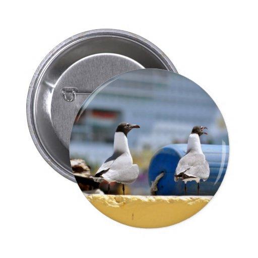 Talking Seagulls 2 Inch Round Button
