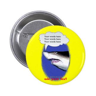 Talking Shark (photo) Button