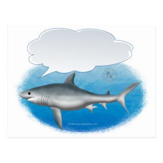 Talking Shark Postcard