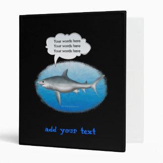 Talking Shark Template Vinyl Binder