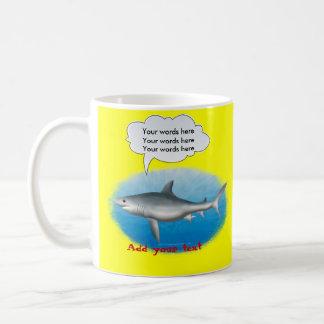 Talking Shark Template Coffee Mug
