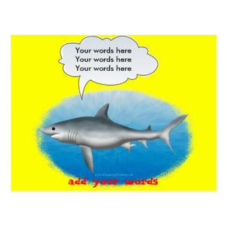 Talking Shark Template Postcard