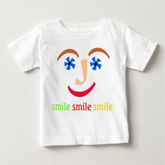 """""""Talking Shirts"""" """"Smile Smile Smile"""" Baby T-Shirt"""