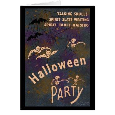 Halloween Themed Talking Skulls Spirit Writing Halloween Party Card