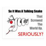 talking snake post card