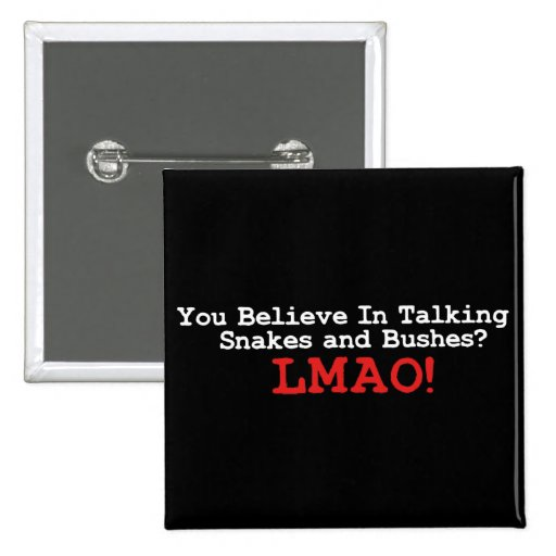 Talking Snakes and Bushes 2 Inch Square Button