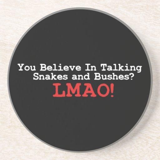 Talking Snakes and Bushes Beverage Coaster