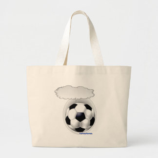 Talking Soccer Ball Large Tote Bag