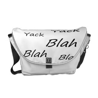 Talking Text Courier Bag