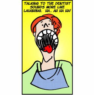 Talking to the Dentist Photo Sculpture Keychain