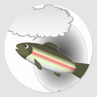 Talking Trout Classic Round Sticker