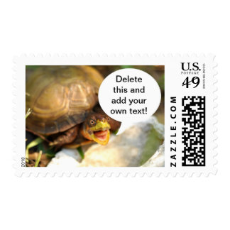 Talking Turtle Says What's on Your Mind Postage Stamps