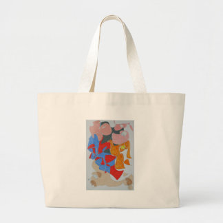 Talking With Dog Owners Large Tote Bag