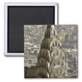 Tall and Glorious Buildings of the Big Apple Fridge Magnet