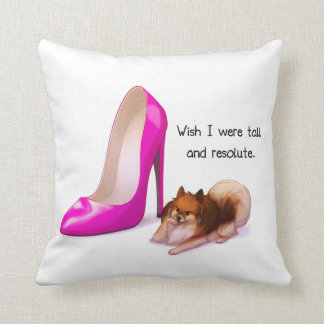 Tall and Resolute Throw Pillow