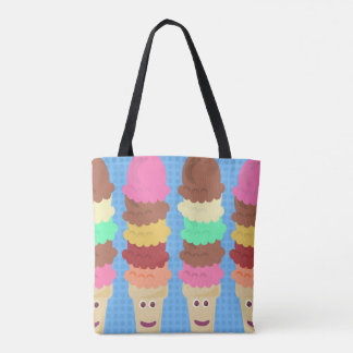 Tall and Tasty Ice Cream Cones Tote Bag