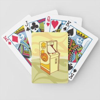 Tall arcade game console bicycle playing cards
