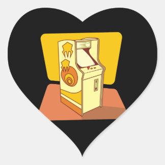 Tall arcade game console heart sticker