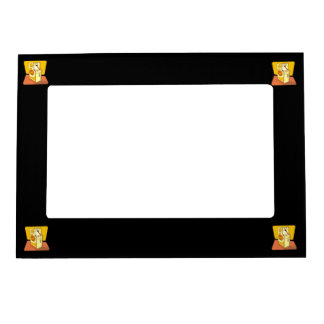 Tall arcade game console magnetic photo frame