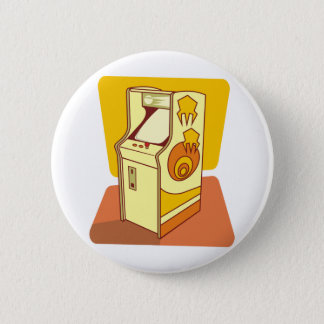 Tall arcade game console pinback button
