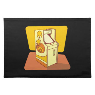 Tall arcade game console placemat