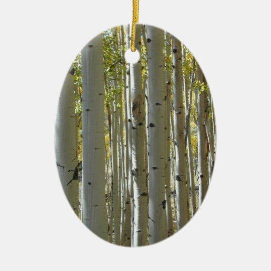 Tall Aspen Trunks ornament