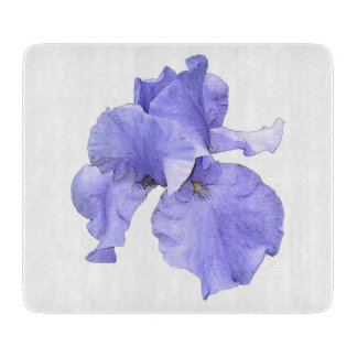 Tall Bearded Purple Iris Cutting Board