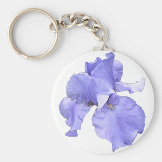 Tall Bearded Purple Iris Keychain