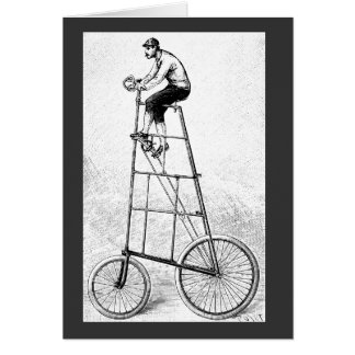 Tall Bicycle Vintage Cycling Sports Card