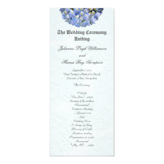 Tall Blue Hydrangea Wedding Ceremony Programs