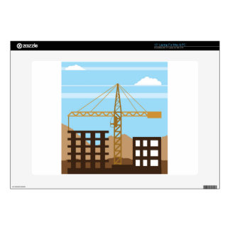 Tall building Crane sky Decal For Laptop